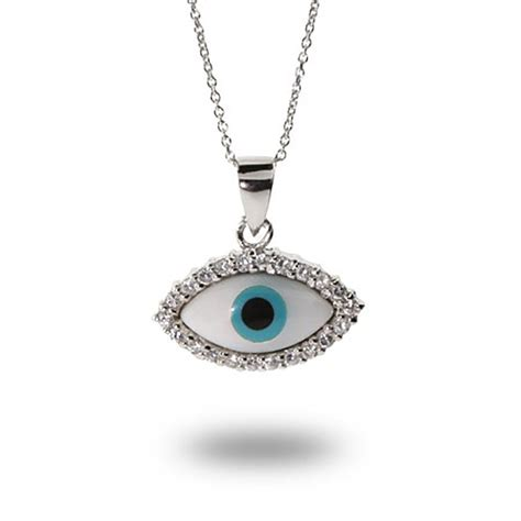 amazon necklace amazon com sterling silver evil eye protection pendant