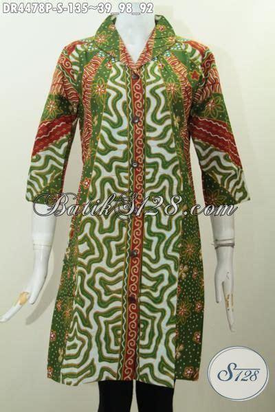 Model Langsung baju dress batik model langsung dengan motif klasik nan