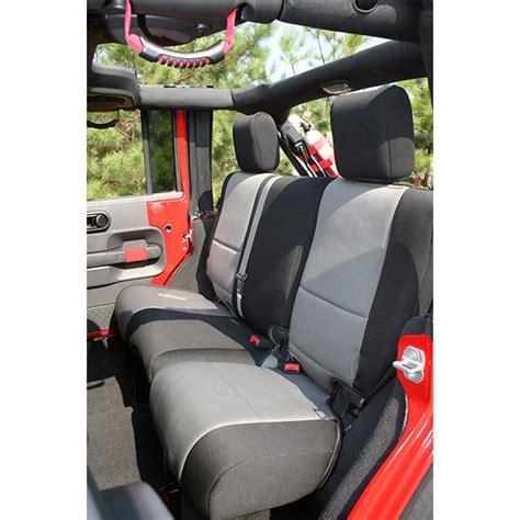 xj neoprene seat covers rugged ridge 13265 09 neoprene rear seat cover black and