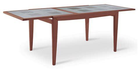 tavoli vetro prezzi tavolo allungabile rettangolare in legno e vetro diana