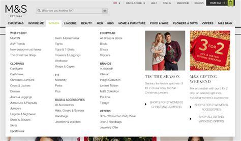 marks and spencer menu 6 tips for creating fantastic website navigation