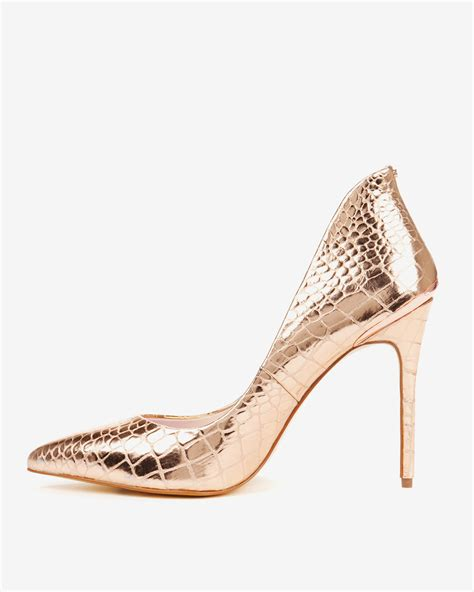 ted baker high heels lyst ted baker high back court shoes in pink