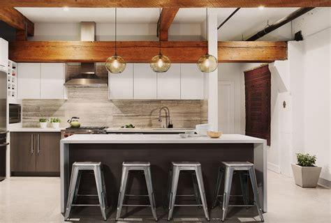 modern pendant lights for kitchen island kitchen island pendant lighting in an urban inspired penthouse