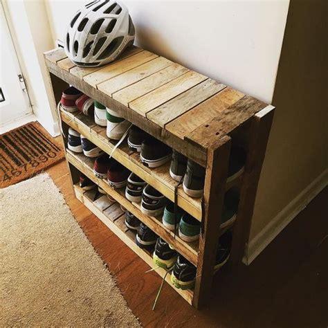 shoe hanger diy pallet shoe rack easy tutorial and