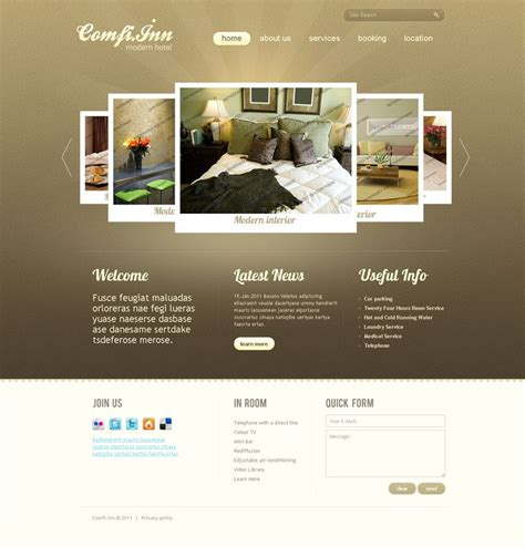 design idea sites motel accommodation hotel web design idea 05 png 1 344