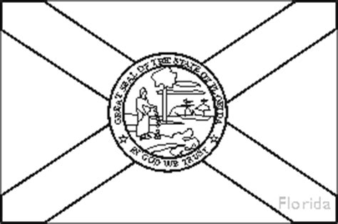 florida state flag coloring pages usa for kids