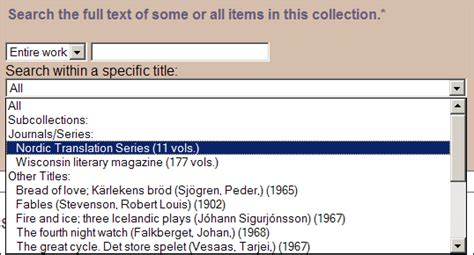 Wisc Simple Search The German Studies Collection Help File