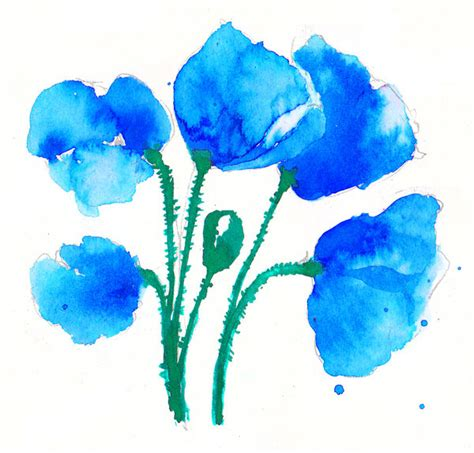 blue blue poppies by grinar on deviantart