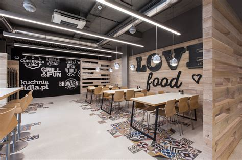 design cafe lidl restaurant by mode lina architekci design father