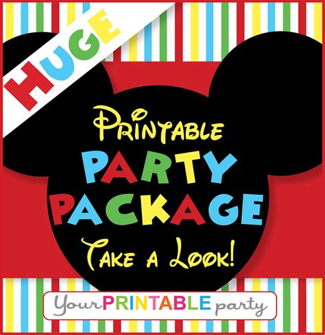 printable mickey mouse birthday decorations mickey mouse party package personalized by yourprintableparty