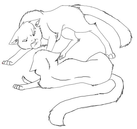 warrior cats fighting coloring pages the gallery for gt warrior cats lineart