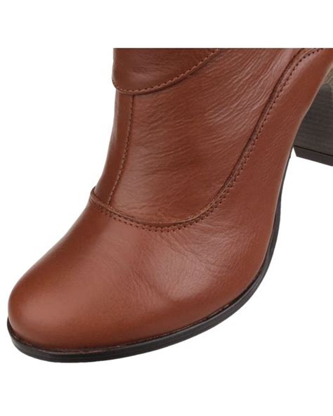 hush puppies ankle boots hush puppies willow slip on ankle boots in brown lyst