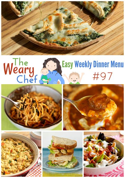 and easy dinner menu easy weekly dinner menu 97 leftover turkey recipes and