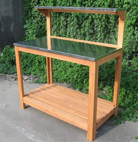 wooden potting bench wooden potting bench flower pot table id 7965191 product details view wooden