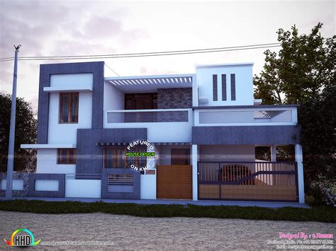 simple contemporary home design kerala home design east facing simple modern home kerala home design and
