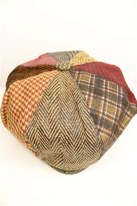 Patchwork Newsboy Cap - roberto cavalli leather multi patterns patchwork newsboy