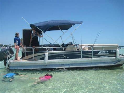 crab island pontoon rentals crab island picture of luther s pontoon waverunner