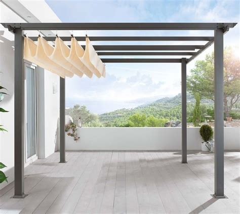 Pergola With Retractable Awning by Diy Pergola Kit Canopy Included Gardenista