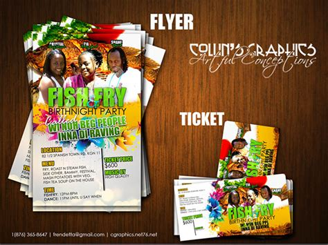 flyer design jamaica fish fry flyer and tickets on behance
