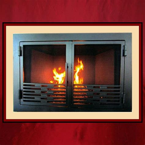 Custom Fireplace Screen Doors by Wrought Iron Fireplace Screen Door Northshore