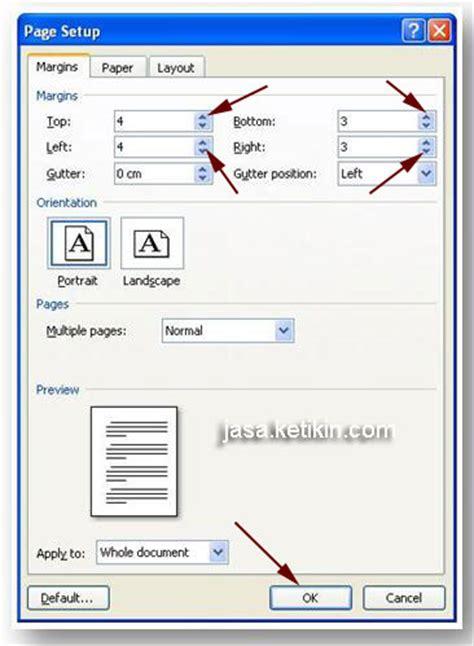 ukuran page layout untuk makalah jasa pengetikan termurah