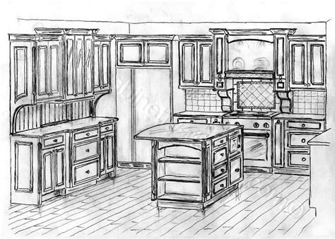 Schrank Skizze by Distressed Kitchen Cabinets Custom Made Cabinets And