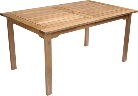 amazonia eucalyptus rectangular outdoor dining