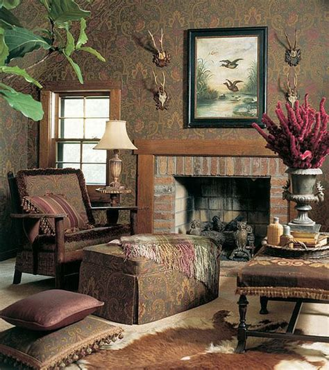 country style home interiors design interior country brown fireplace warm lounge