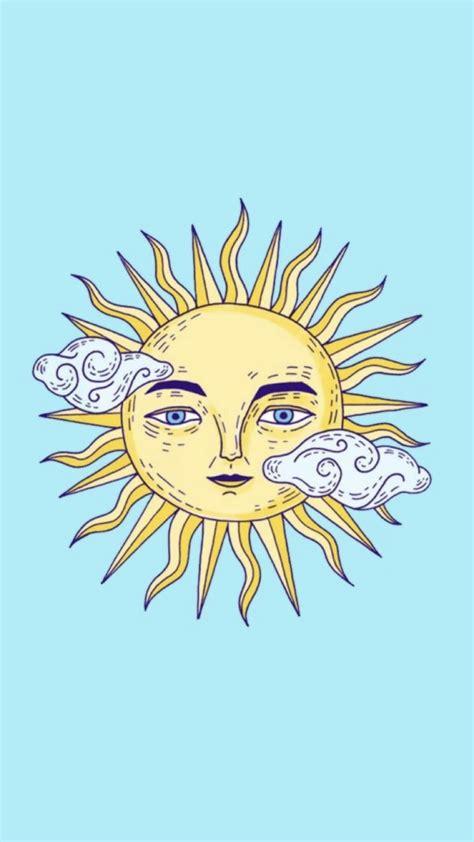 wallpaper de sol fondo de pantalla pintura dibujo de