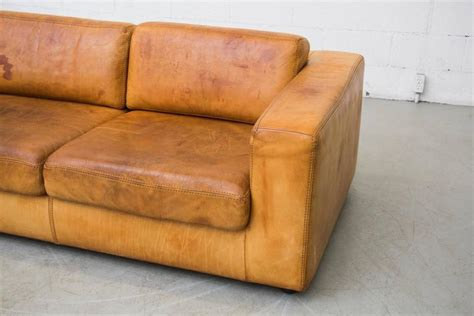 natural leather sofas natural leather two cushion sofa by durlet at 1stdibs