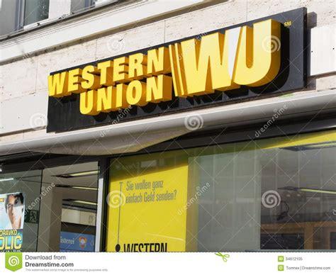 western union bank frankfurt western union editorial image image 34612105