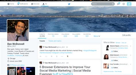 twitter different layout dan mcdonnell on setting up your new twitter profile page
