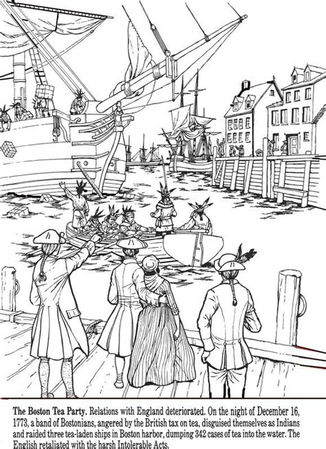all things john adams coloring pages boston tea party