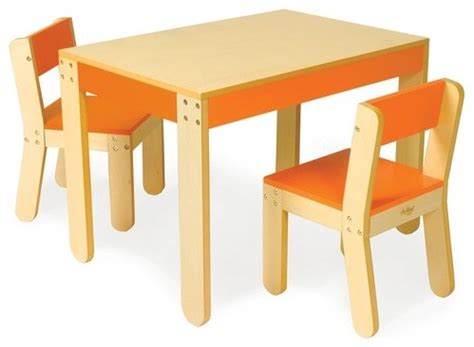 little kid table and chair set little one s table and chair set in orange modern kids