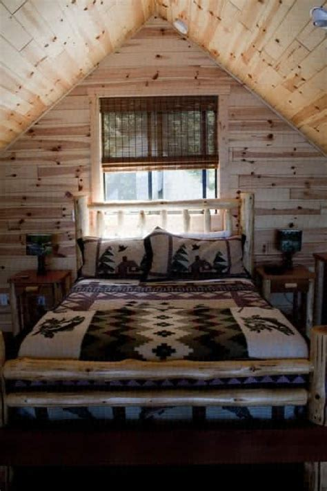 log cabin bed beautiful cabin bedroom log home living pinterest