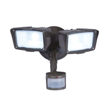 Outdoor Sensor Flood Lights Defiant 180 Degree Bronze Motion Activated Sensor Outdoor Integrated Led Security