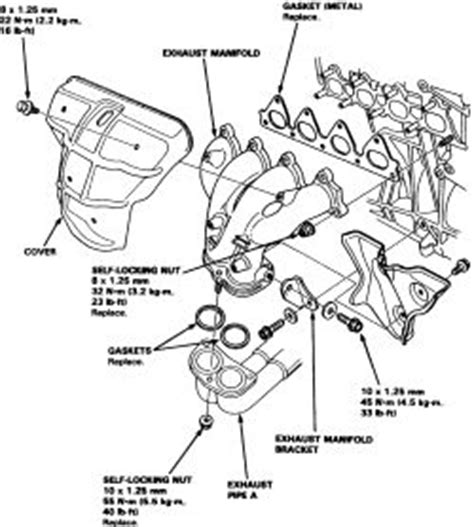 1999 daewoo nubira head bolt removal diagram repair guides engine mechanical exhaust manifold