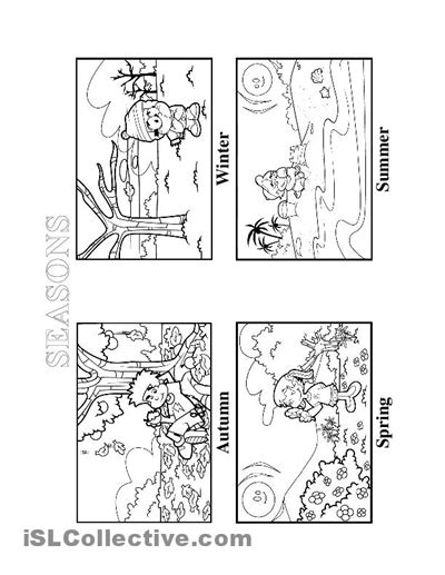 seasons coloring pages preschool seasons worksheet free esl printable worksheets made by