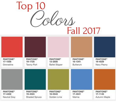 2017 popular colors top 10 colors fall 2017 grace beauty