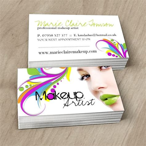 makeup card template 1000 images about makeup artist business cards on