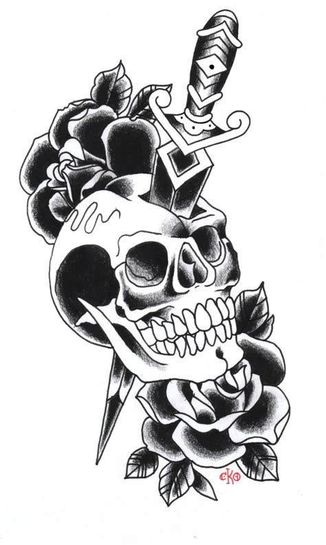 tattoo old school rose and skull 49 old school tattoo designs