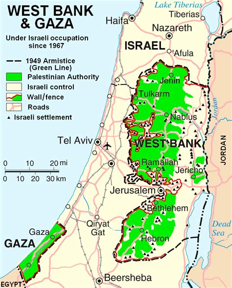 west bank definition israeli palestinian conflict