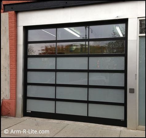 Clear Garage Doors by Designer Glass Garage Door By Arm R Lite With Frosted And