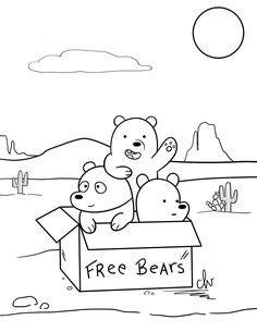 Drawing dei We Bare Bears coloring page | Dibujos kawaii