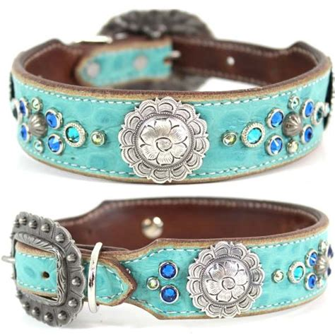 western leather collars turquoise western leather collar cali