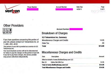 verizon cell phone bill 28 images phone bill
