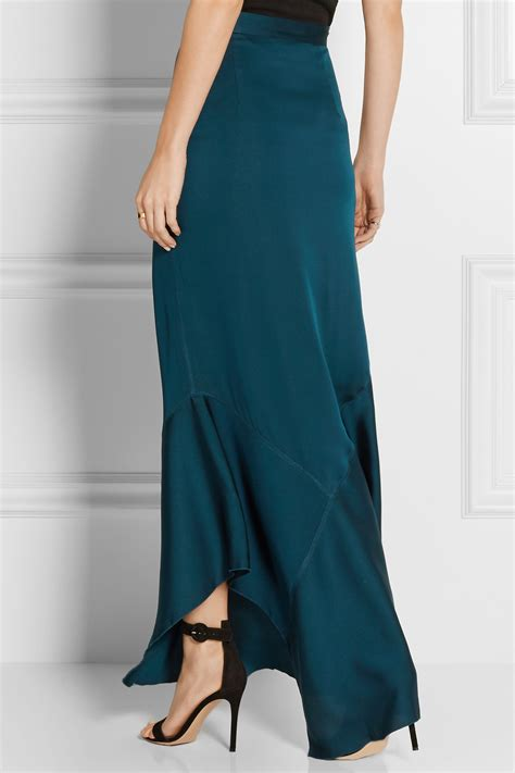 by malene birger zalah stretch satin jersey maxi skirt