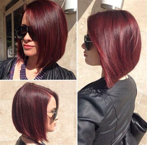 black hair color with a line cut 2015 21 best images about dark bob with red1 on pinterest