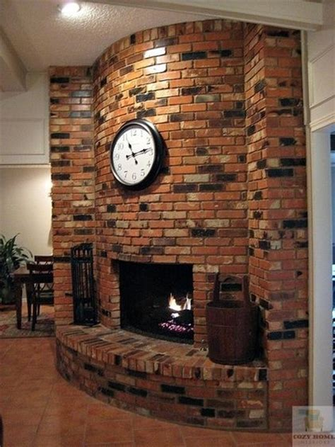 Curved Fireplace by Beautiful Curved Brick Fireplace For The Home