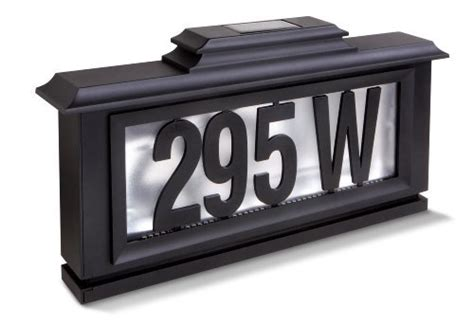 lighted address sign solar solar house number lights solarhousenumbers org